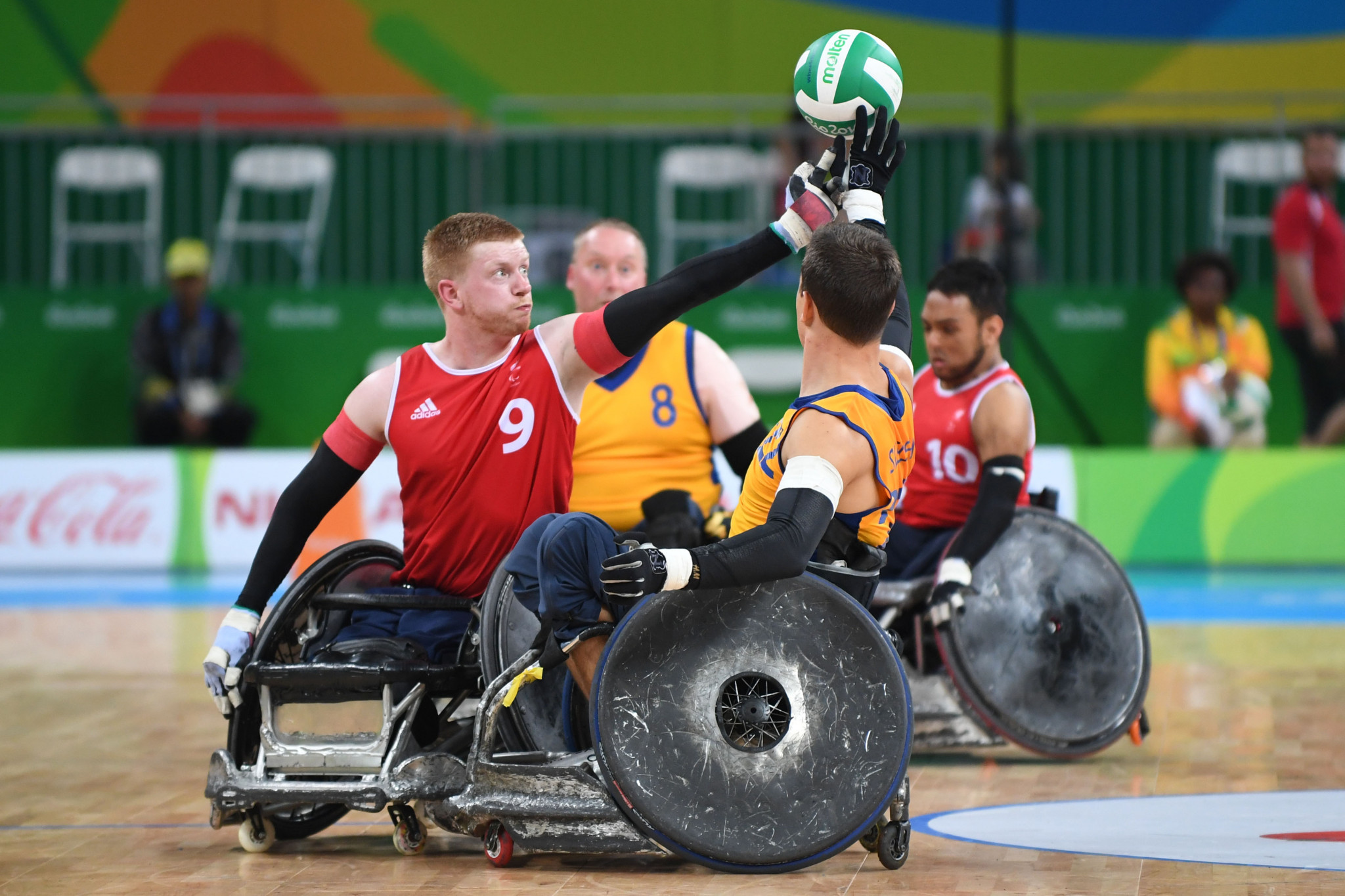 Britain's best finish in wheelchair rugby at the Paralympics is fourth - achieved on three occasions ©Getty Images