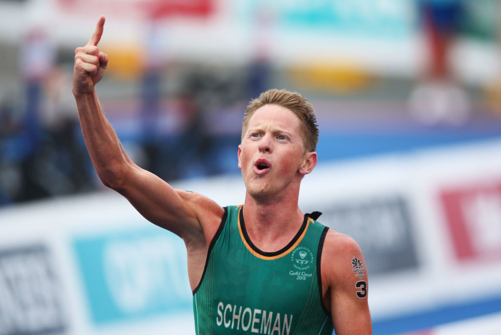 South Africa's Commonwealth champion Henri Schoeman is favourite to win the Africa Triathlon Championship starting in Egypt tomorrow ©Getty Images