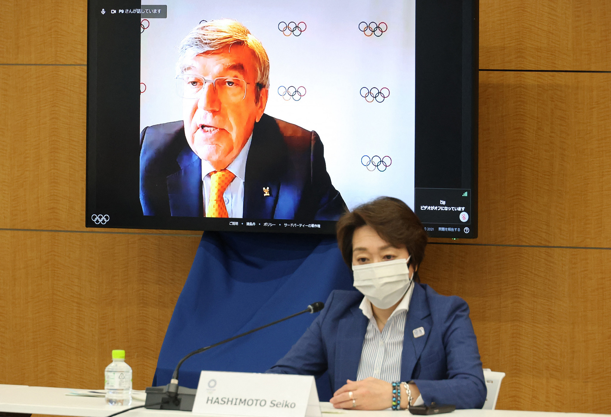 Thomas Bach, top, said discussions had taken pace with Tokyo 2020 over the practicalities of a visit, and it was decided one would not be helpful ©Getty Images