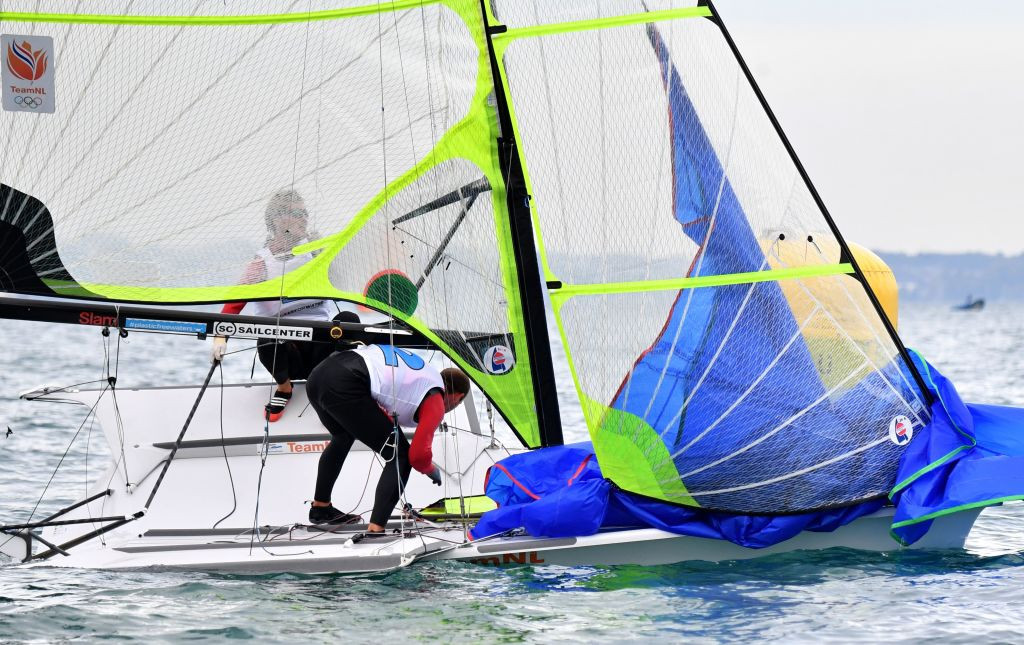 Home teams lead in 49er and 49erFX races at Dutch World Cup sailing meet