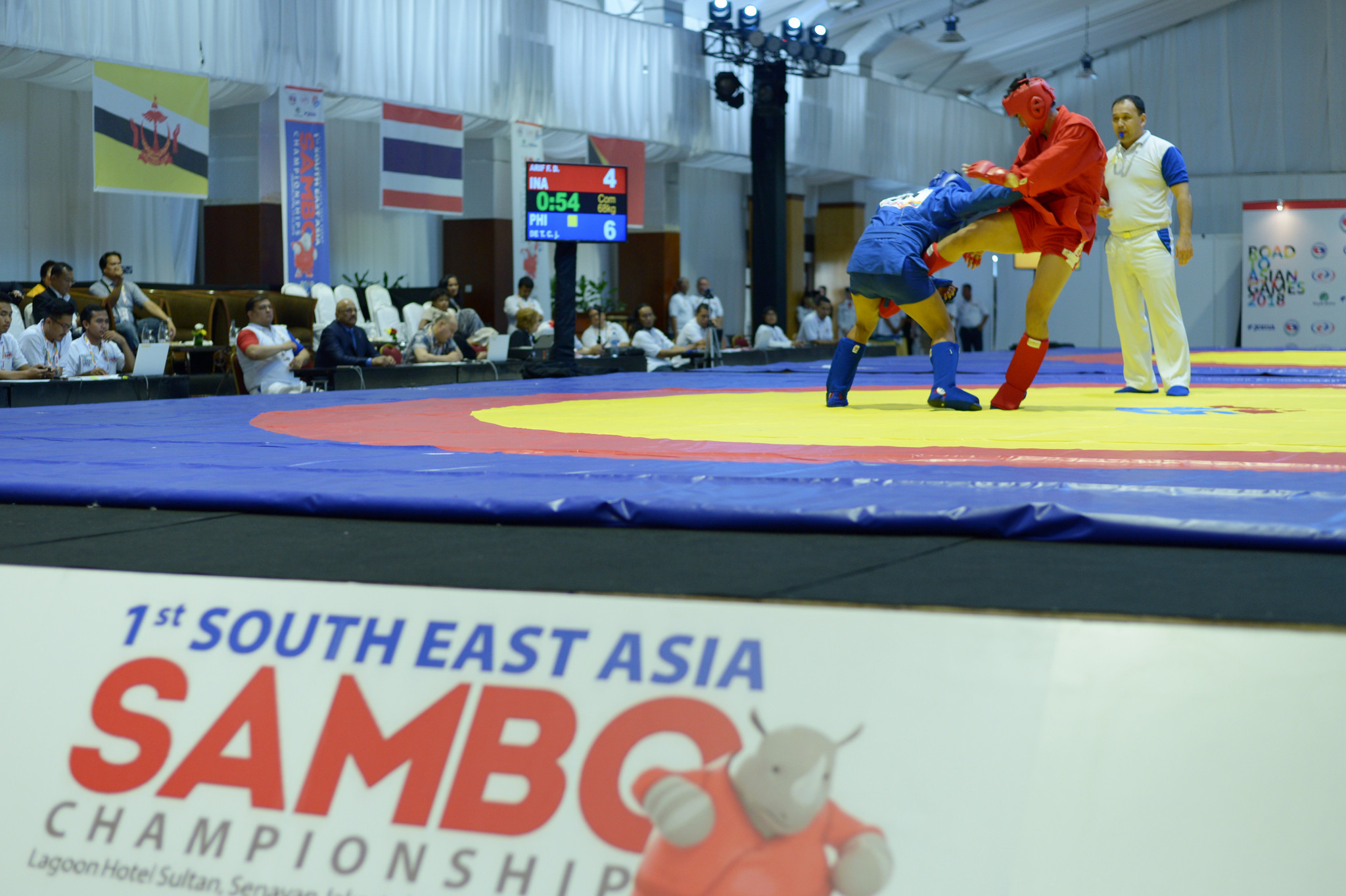 The International Sambo Federation is one of three governing bodies of a combat sport put forward for permanent recognition ©Getty Images