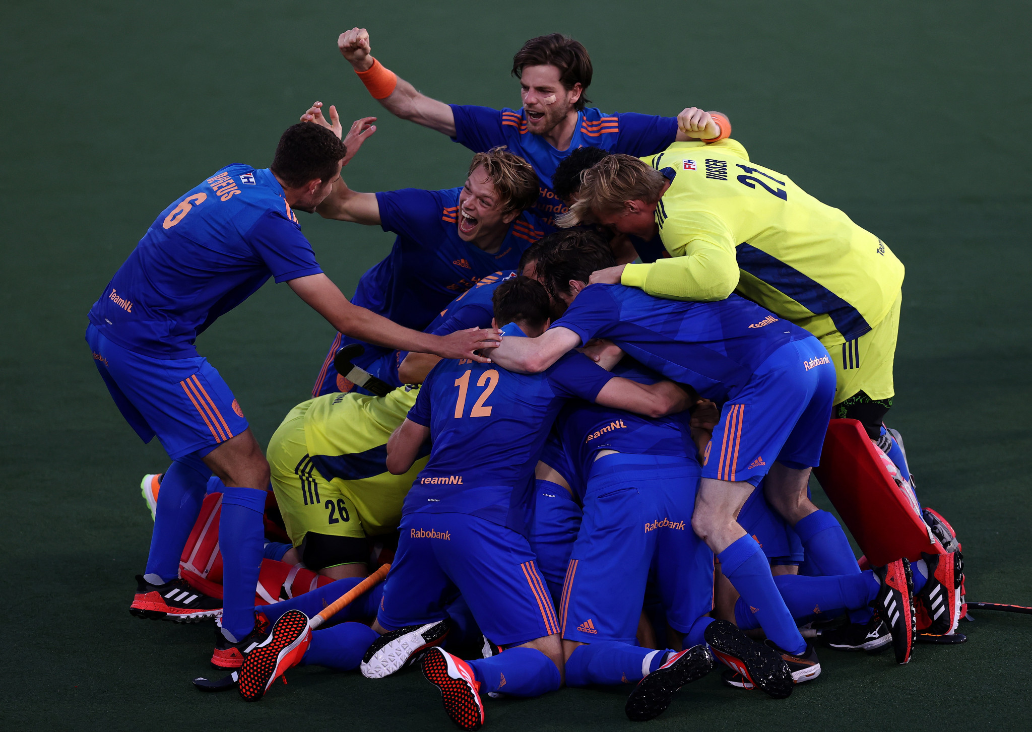 Dutch hosts knock out defending champions Belgian at men's EuroHockey Championship