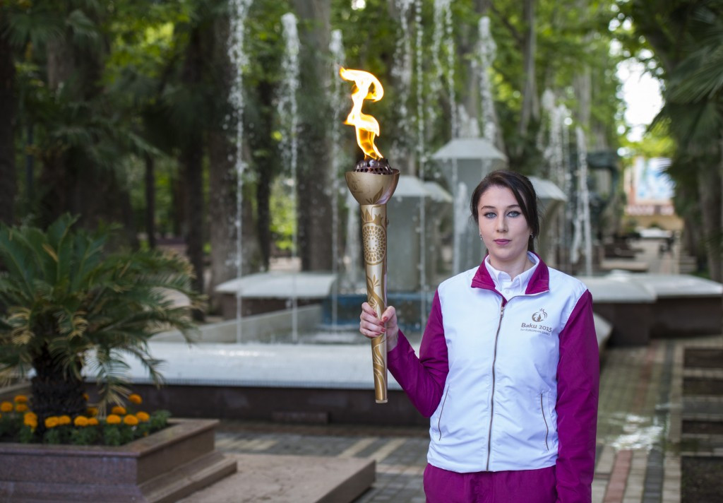 Baku 2015 Flame reaches Azerbaijan's second largest city