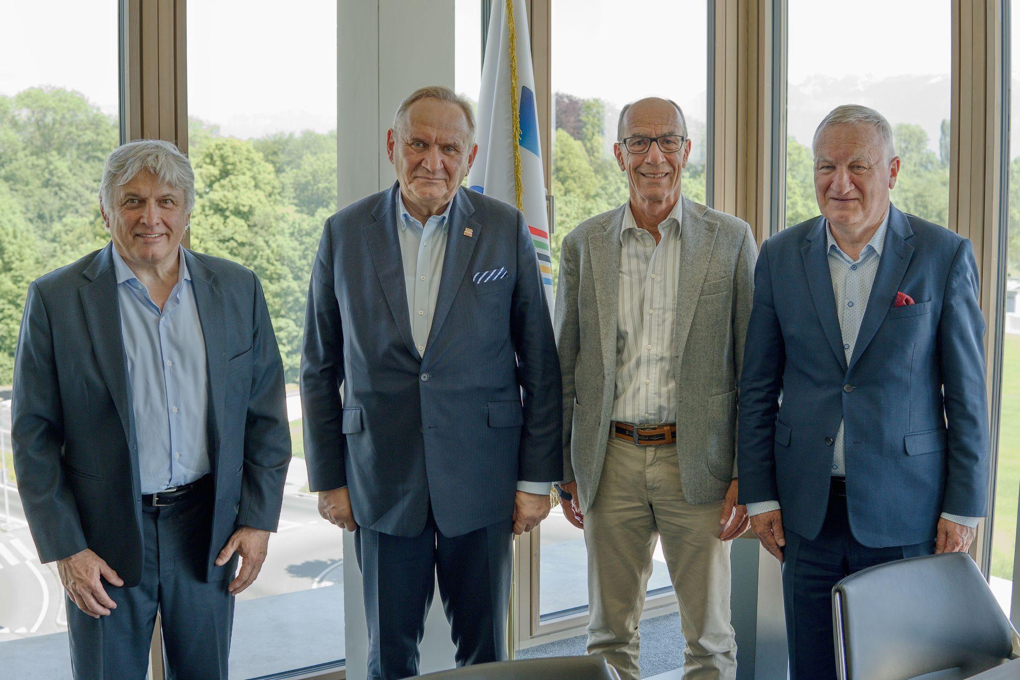 Polish Olympic Committee President Kraśnicki meets FISU leadership