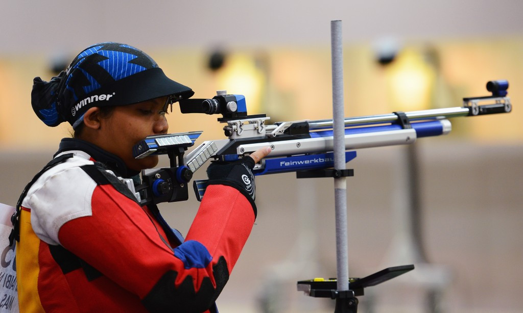 Malaysia's Nur Suryani Mohd Taibi took part in the shooting tournament at London 2012 even though she was eight months pregnant ©Getty Images