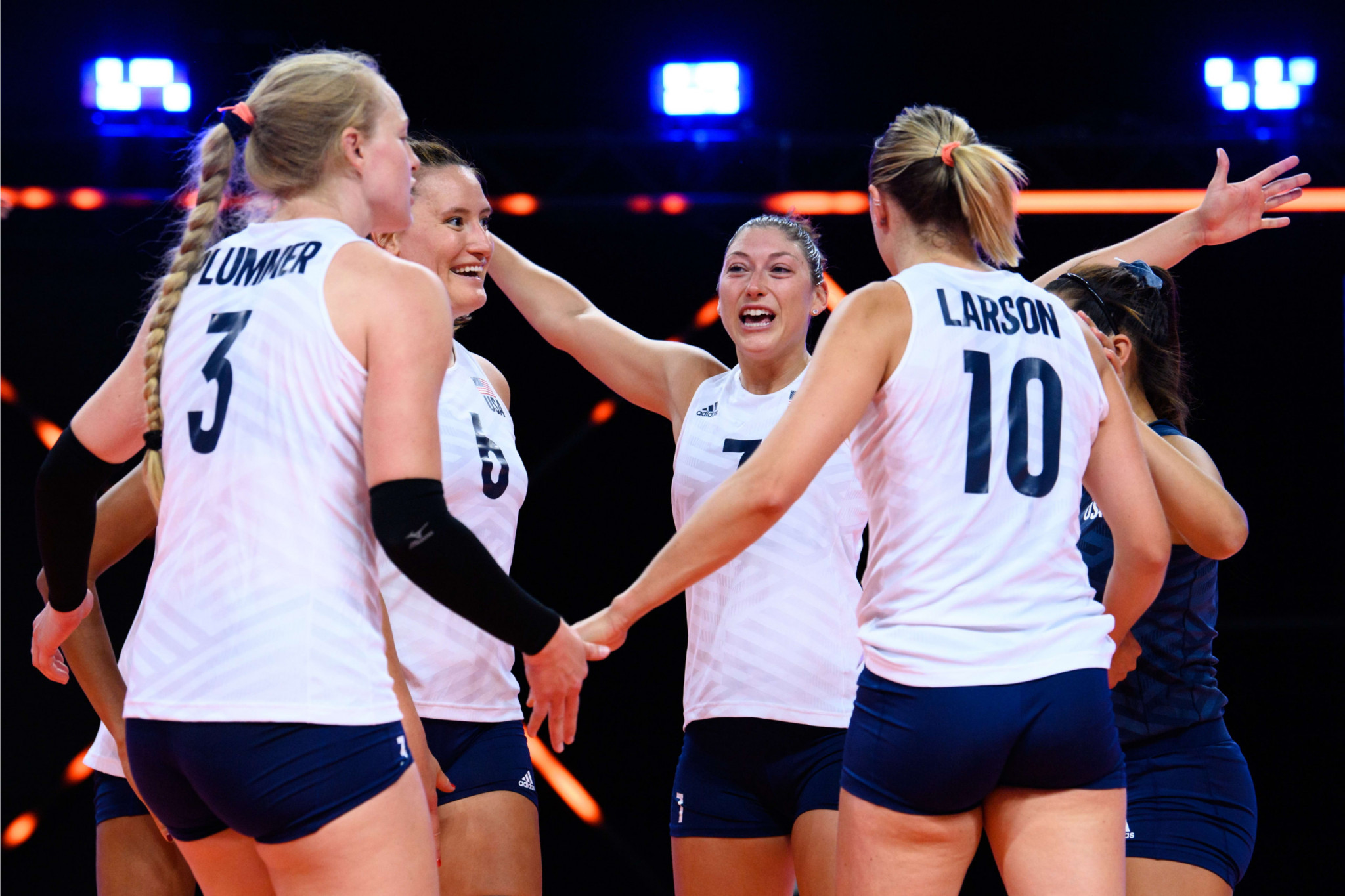 United States perfect record continues with tenth straight win at women's Volleyball Nations League