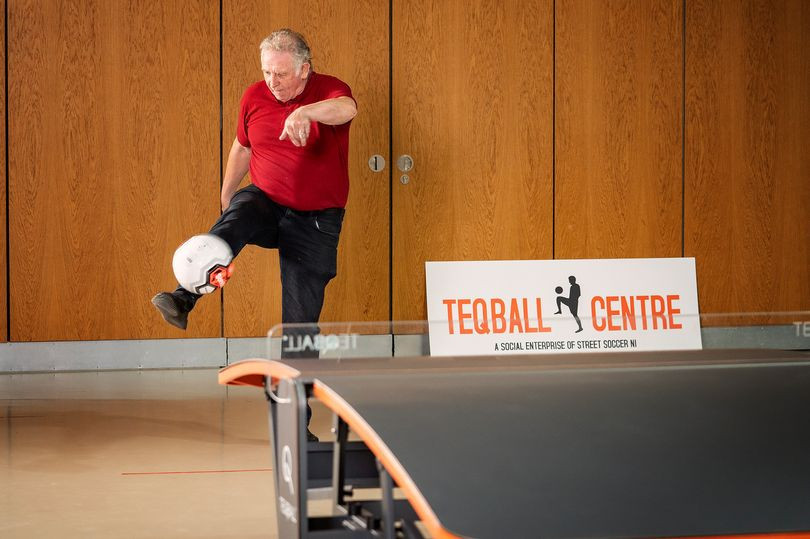 Northern Ireland legend Armstrong helps open new Teqball Centre in Belfast