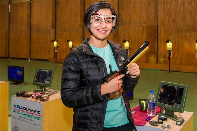 Sidhu earns gold and Rio 2016 quota for India as Asia Olympic Shooting Qualifier opens