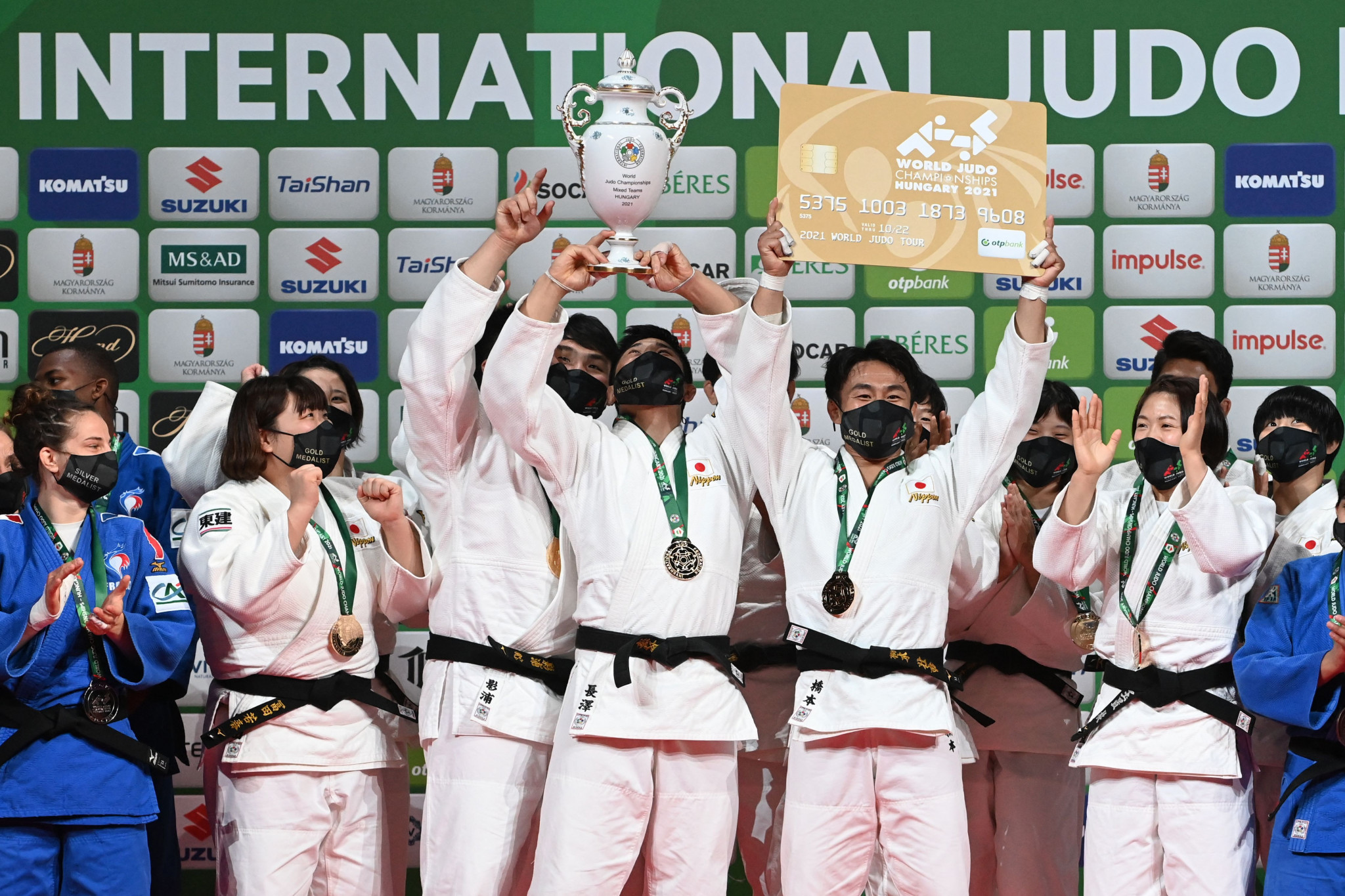 Japan won the mixed team gold medal today on the final day of the World Judo Championships ©Getty Images