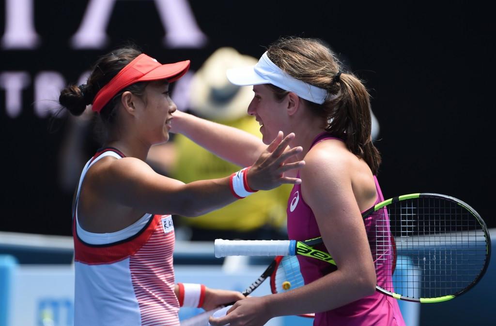 Konta overcomes qualifier Shuai at Australia Open to reach first Grand Slam semi-final