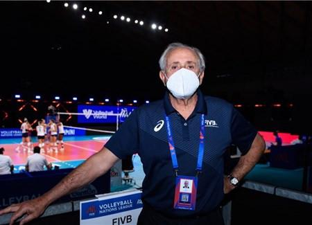 "FIVB President Graça enters Volleyball Nations League ""bubble"" in Rimini"