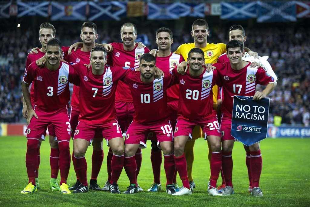 Gibraltar made its debut in international football during the qualifying tournament for Euro 2016 ©Getty Images