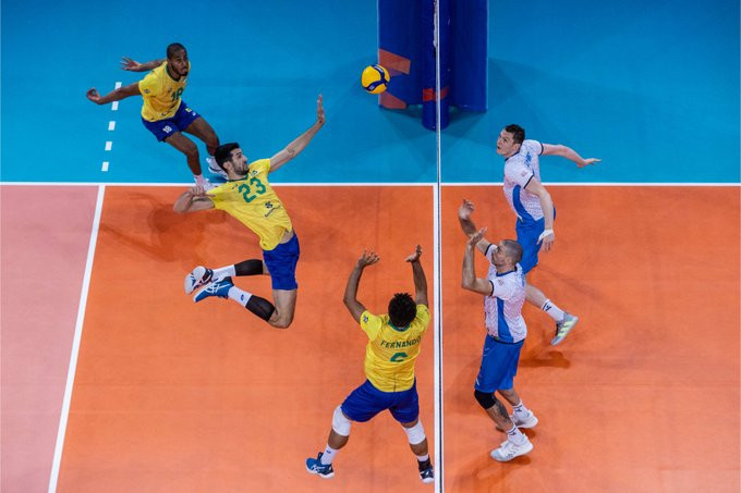 Brazil power on at men's Volleyball Nations League as Australia record first win