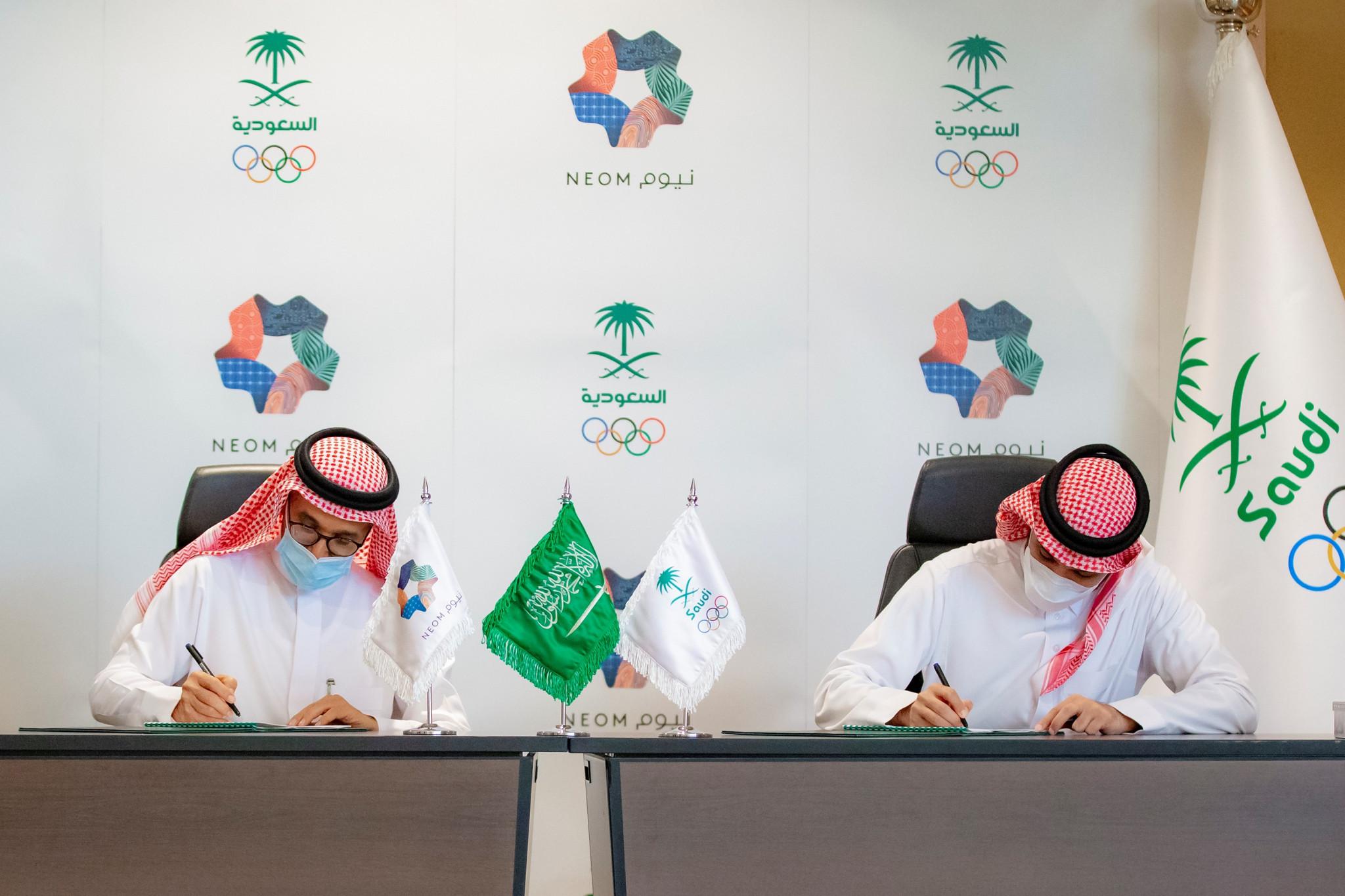 Saudi Arabian Olympic Committee sign MoU with futuristic city Neom