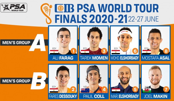 World's top two, Farag and ElShorbagy, drawn together at PSA World Tour Finals