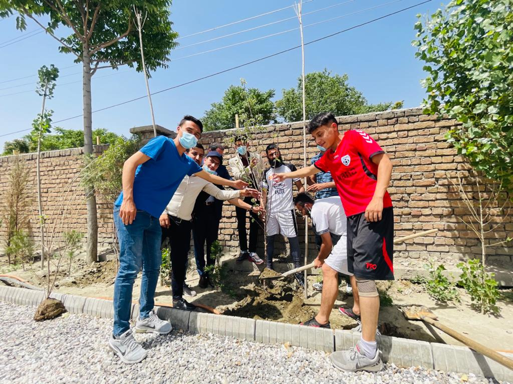 Teqball clubs in Afghanistan participate in tree-planting programme