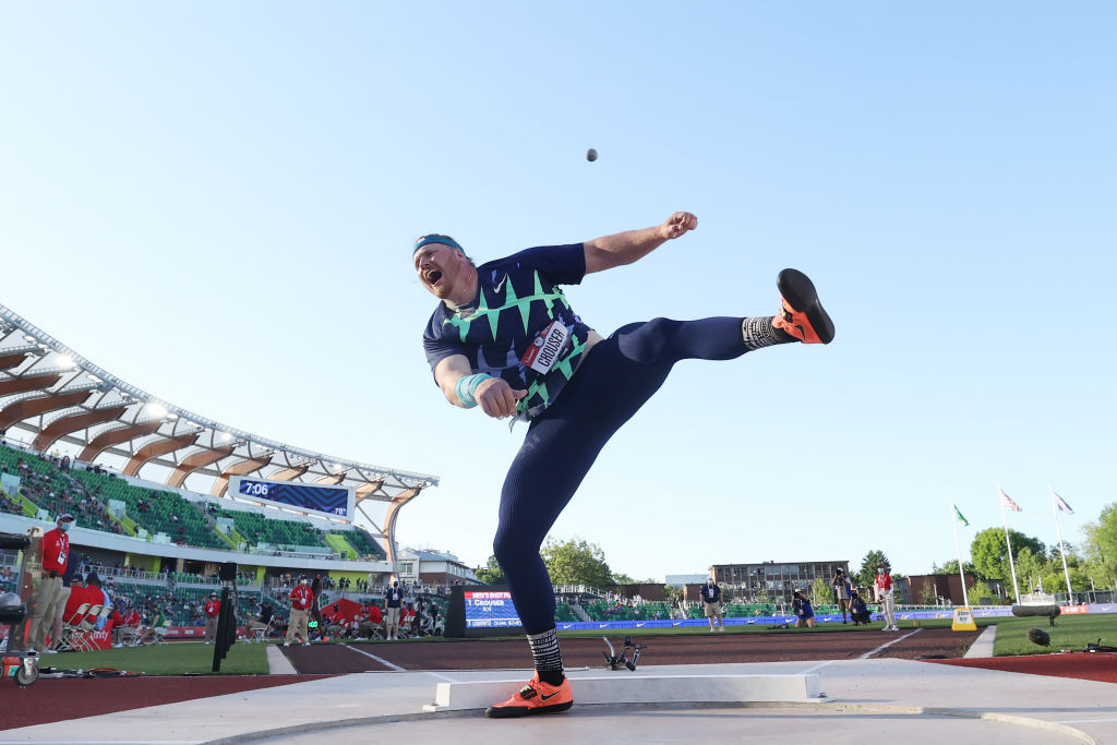 Crouser beats Barnes's 31-year-old world shot put record with 23.37m at US Olympic trials