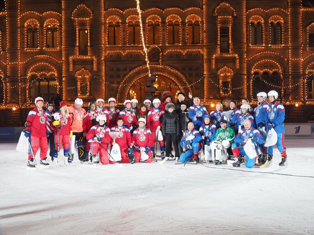 The match was played in Red Square in Russia's captial Moscow