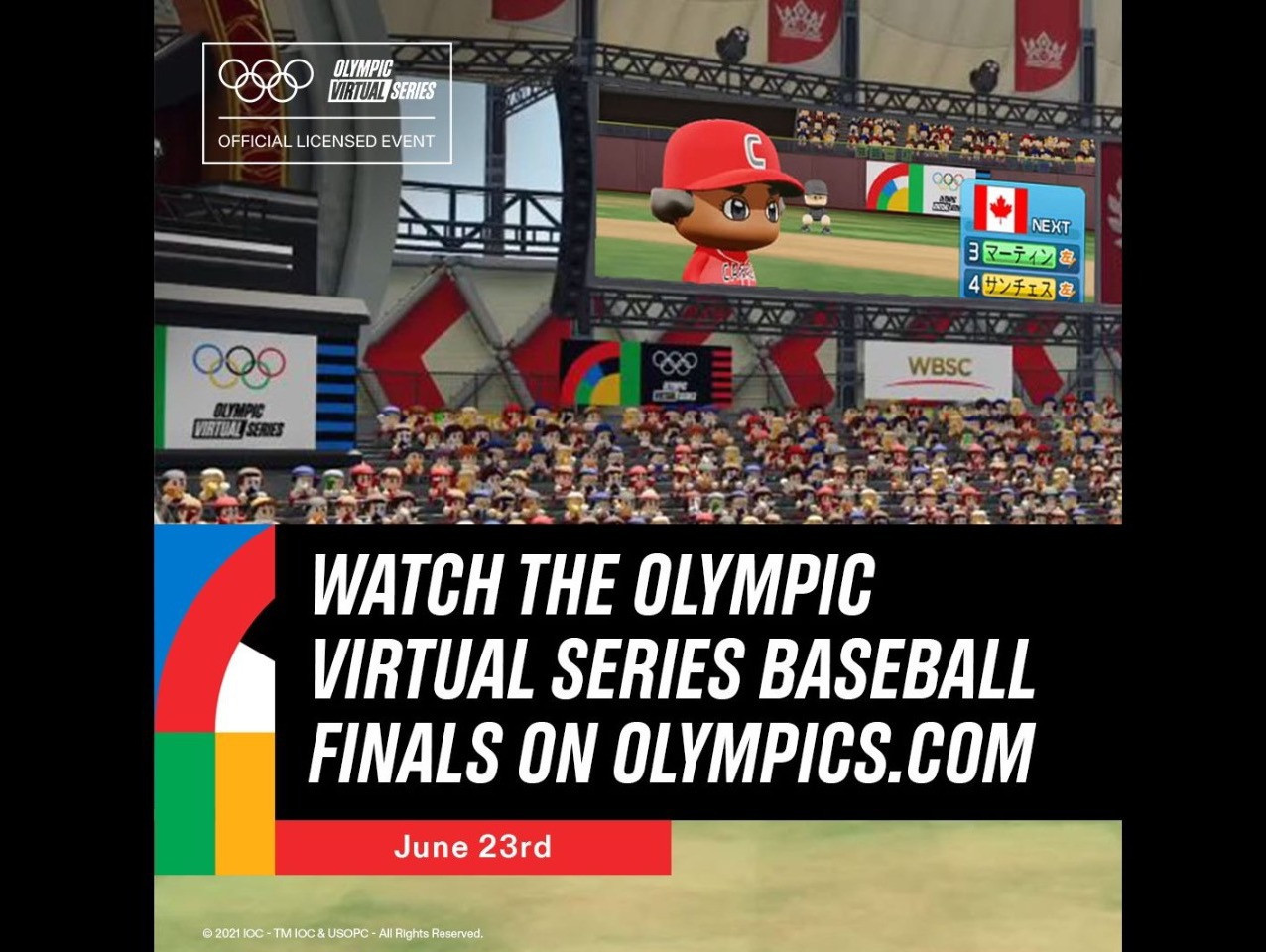 Olympic Virtual Series baseball finals to be broadcast worldwide