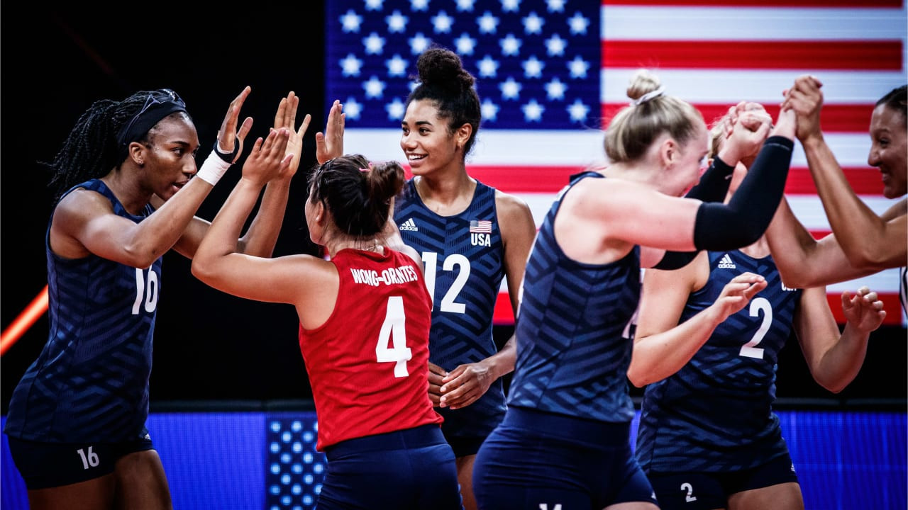 US complete women's Volleyball Nations League hat-trick with victory over  Brazil