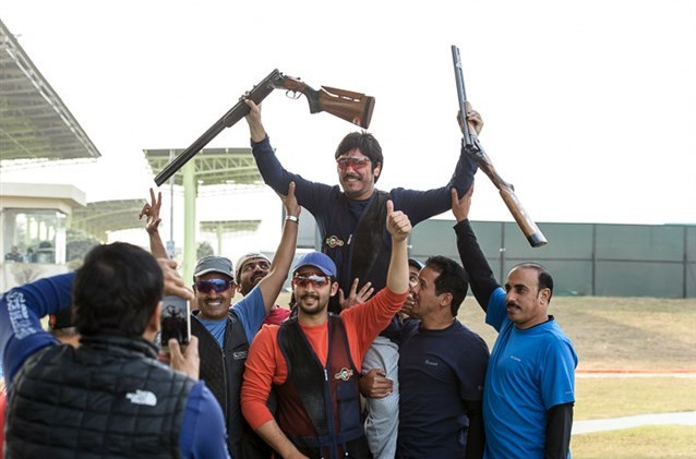 Kuwaiti competing under ISSF flag claims gold at Asia Olympic Shooting Qualifier