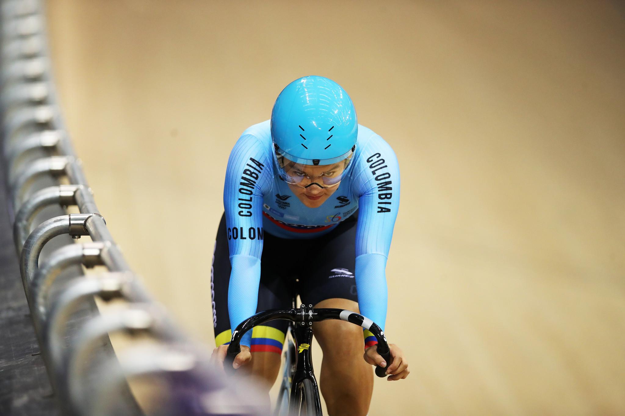 Martha Bayona Pineta gana la prueba de tiempo de 500 metros femeninos © Getty Images