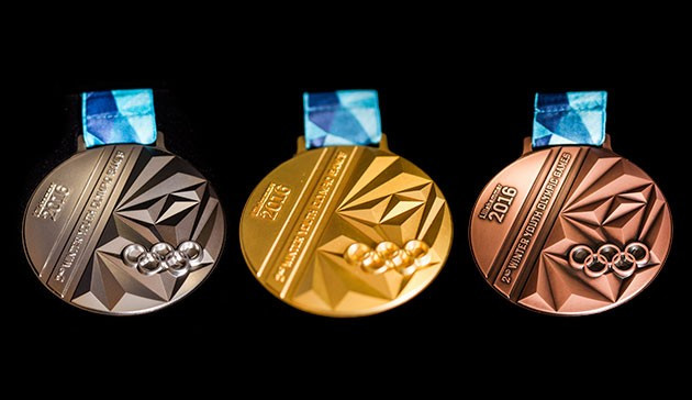 The medals have been designed by 20-year-old Romanian Ciprian Burzo along with organisers