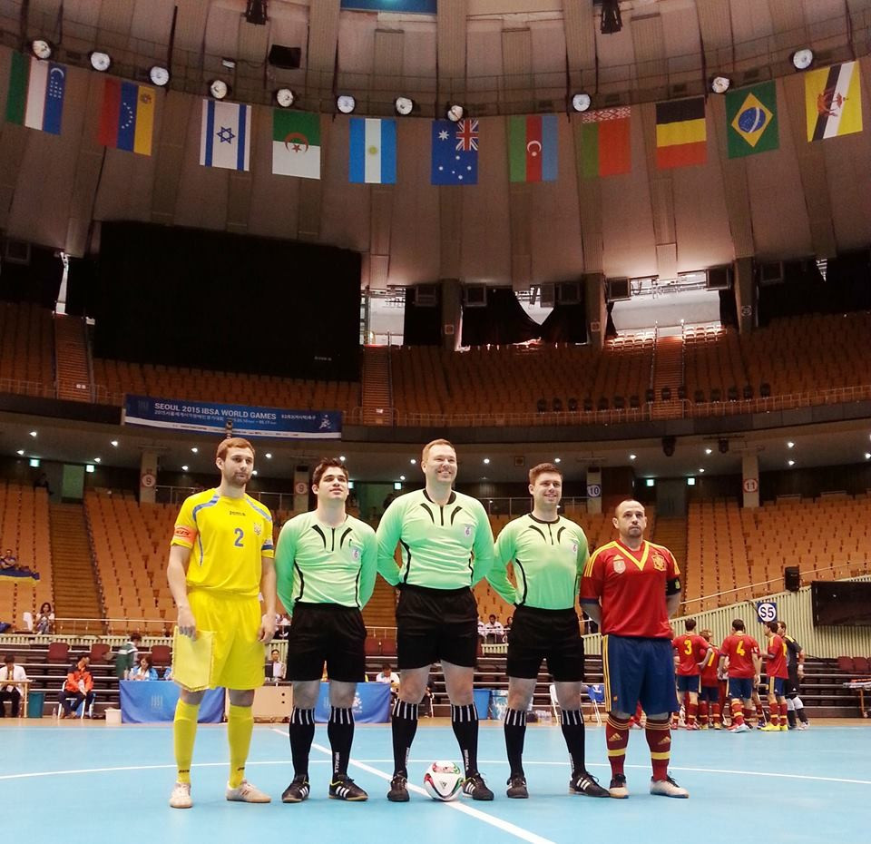 Ukraine will face Spain in the final of the IBSA Partially Sighted Football World Championships tomorrow