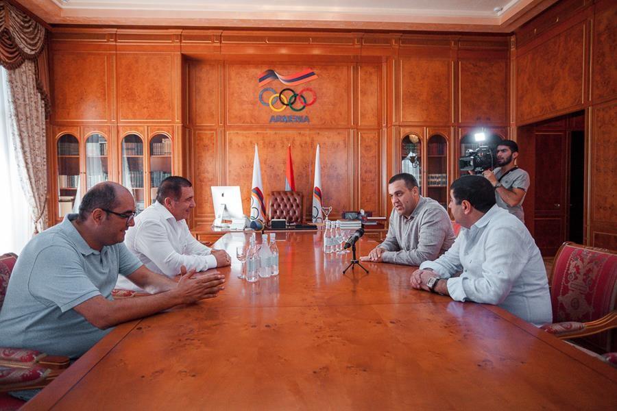 AIBA President Umar Kremlev also visited Armenia © AIBA
