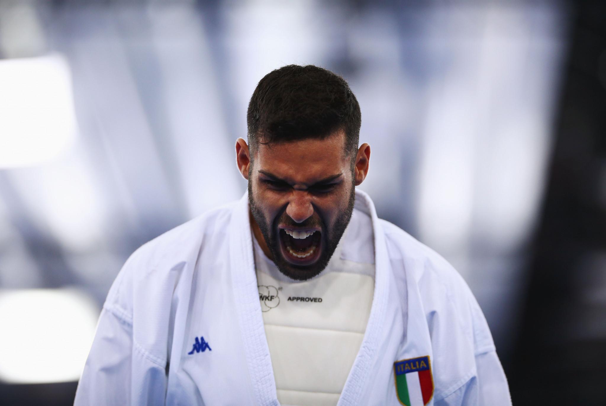Il due volte campione del mondo Luigi Gatto è una delle cinque squadre a competere nel karate per l'Italia © Getty Images