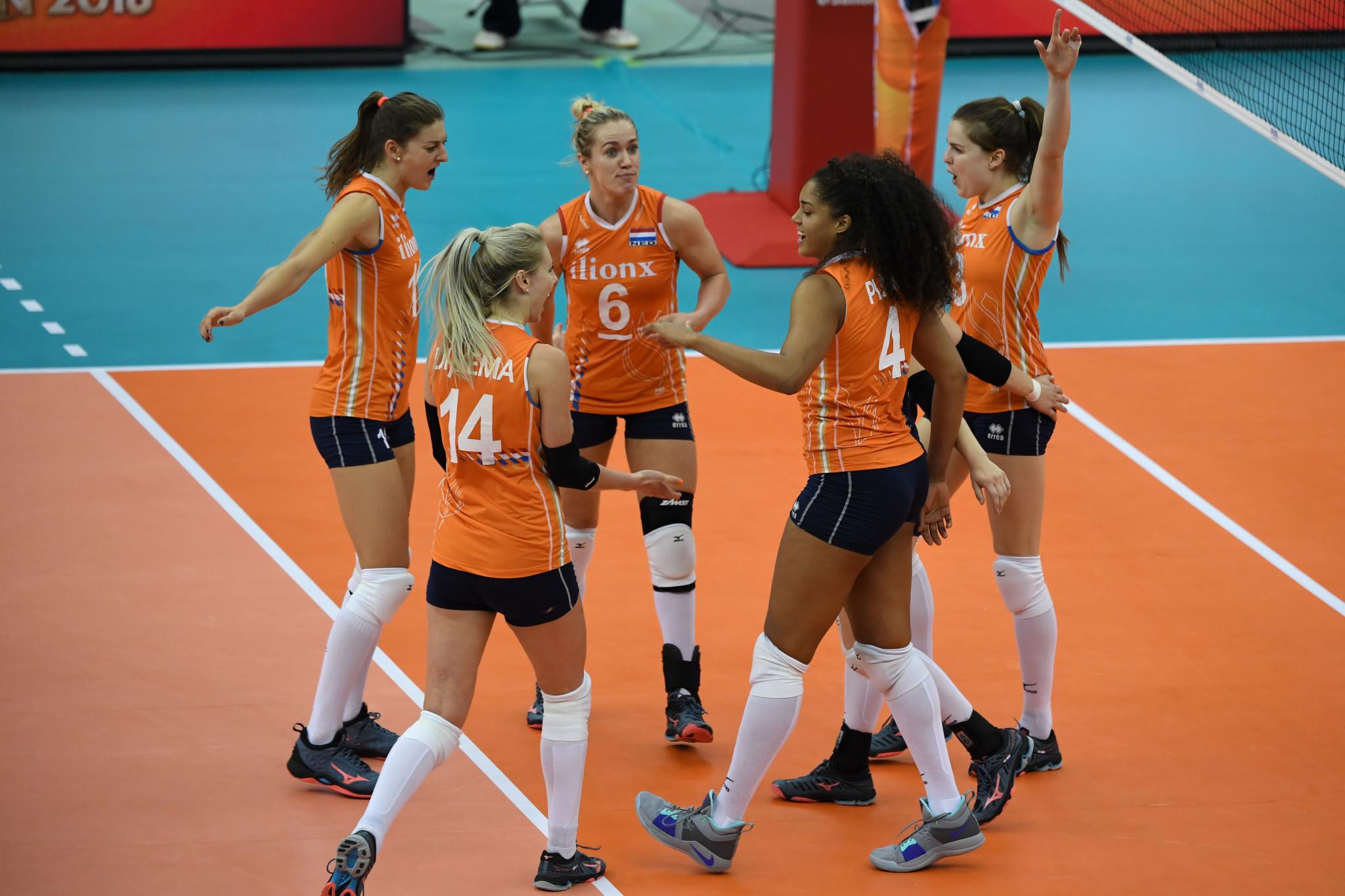 Co-organizzatore del Campionato del mondo Under 20 femminile FIVB olandese dopo aver perso contro la Serbia nelle ultime quattro partite ai playoff al terzo posto © Getty Images