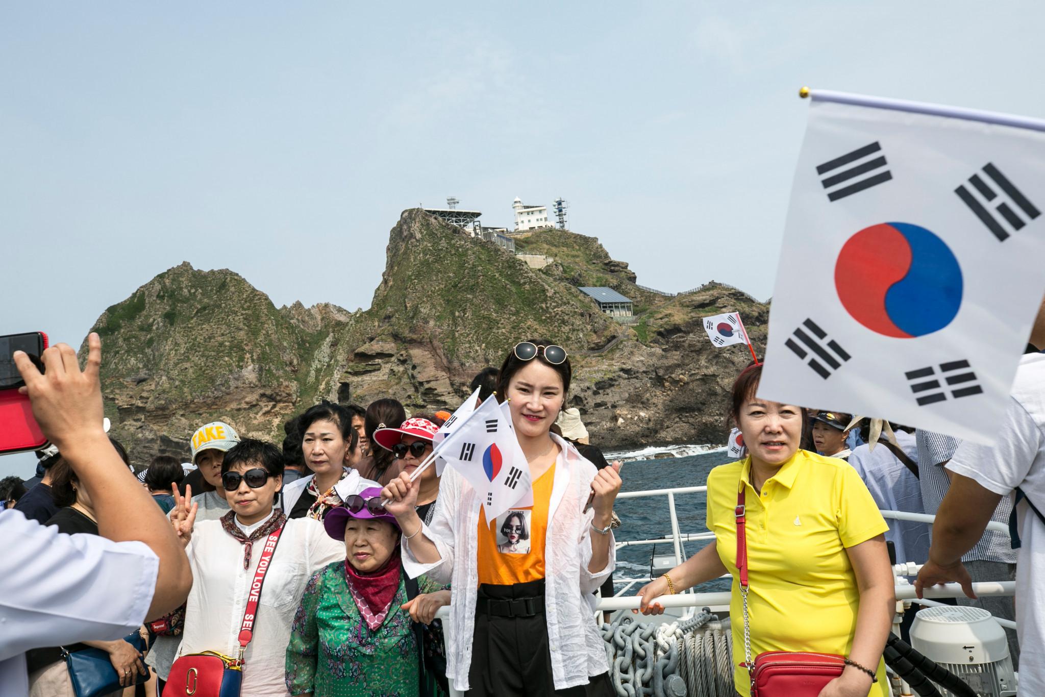 한국은 한국에서 독도라고 알려진 섬을 통제하지만 일본은 영토의 일부로 인식합니다. © Getty Images