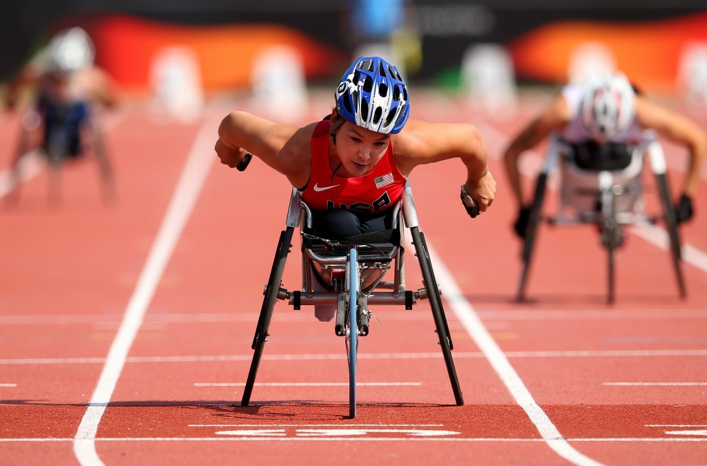 Shirley Reilly was also victorious on a day of American dominance as she won the T53 800m