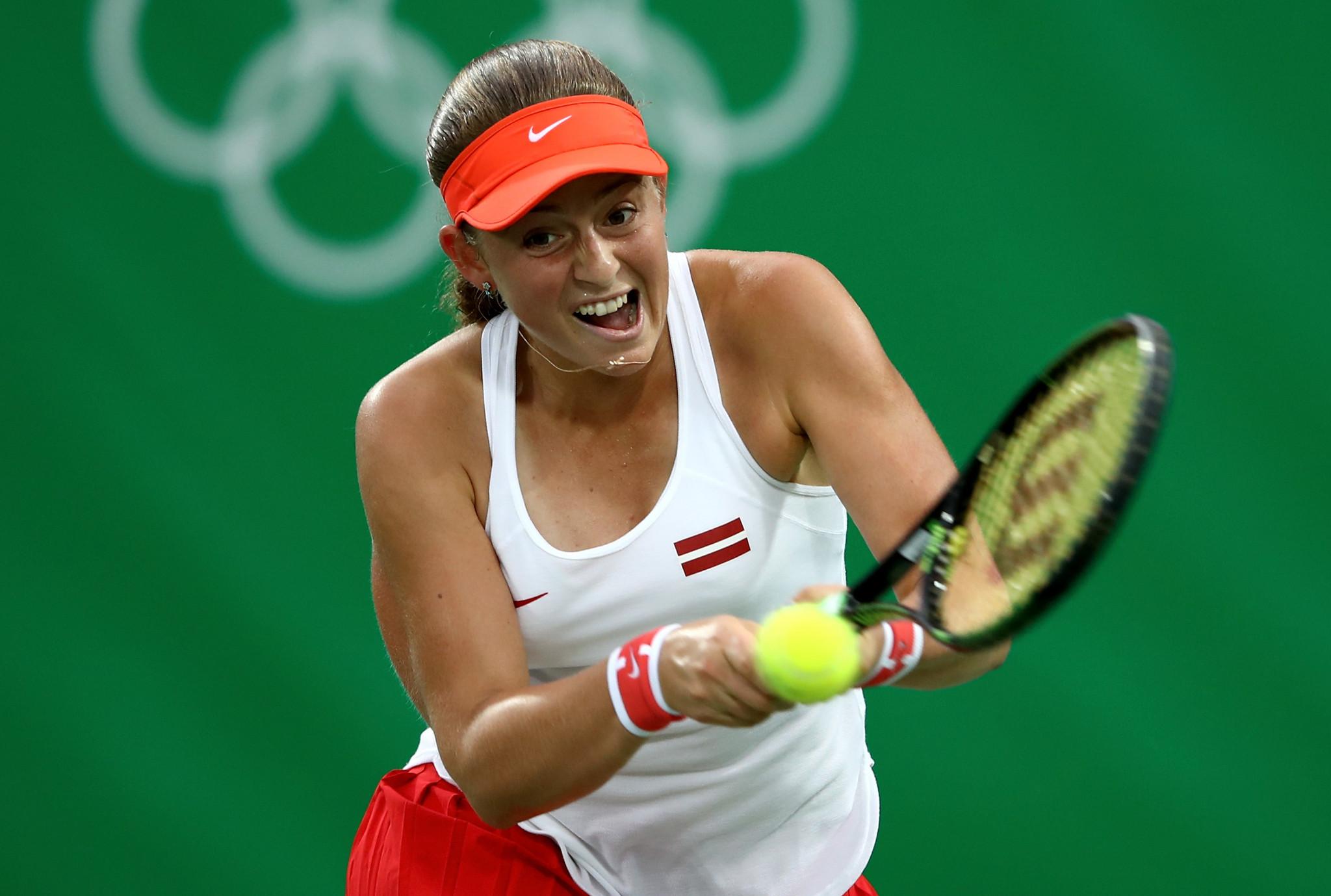 French Open uzvarētāja Jeena Ostapenko spēlēja 2016. gada Rio olimpiskajās spēlēs © Getty Images