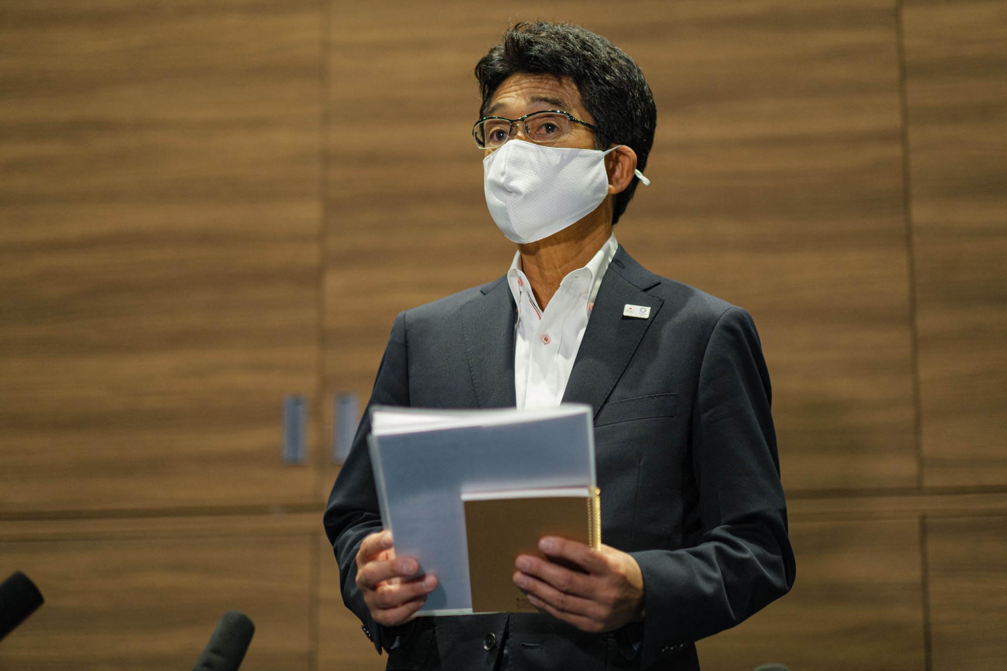 """日本の公館長福井宗義は、彼はそこにいないと主張している """"大きな問題"""" COVID-19©ゲッティイメージズ運動村に少なくとも3人のアスリートがいるにもかかわらず、陽性の検査を受けた"""