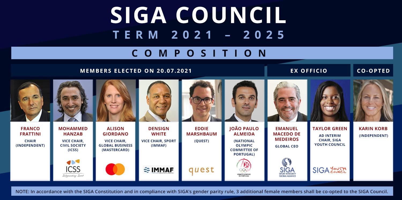 Oggi sono stati eletti sei membri del consiglio di amministrazione della Global Sports Integrity Alliance © SIGA