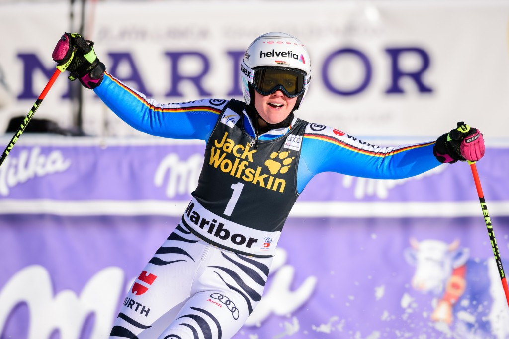 Rebensburg races to second consecutive giant slalom win at FIS World Cup
