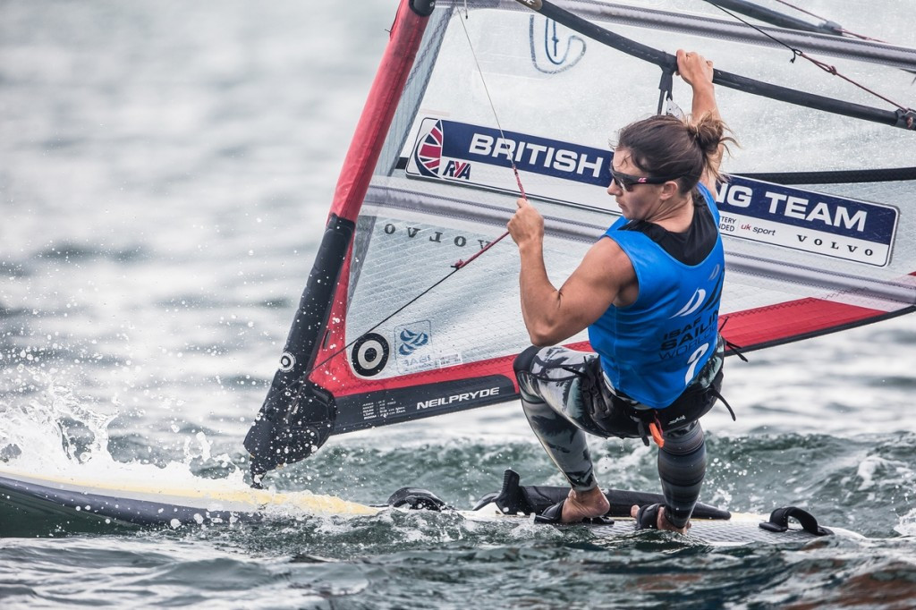 Great Britain's Bryony Shaw holds an 11 point advantage in the women's RS:X