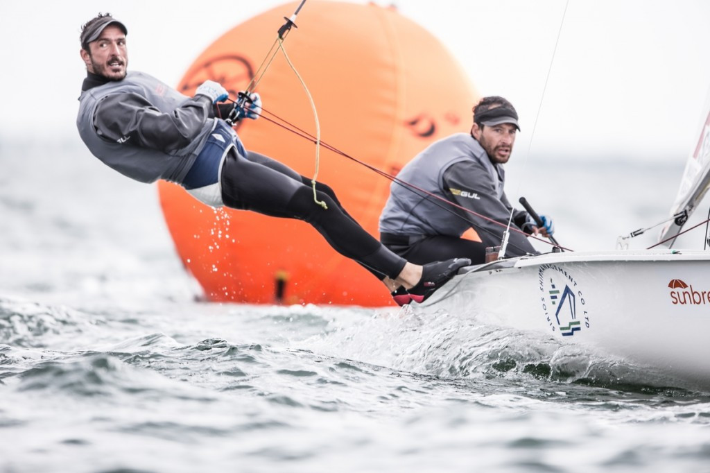 Greece's Panagiotis Mantis and Pavlos Kagialis are in the running for top honours in the men's 470