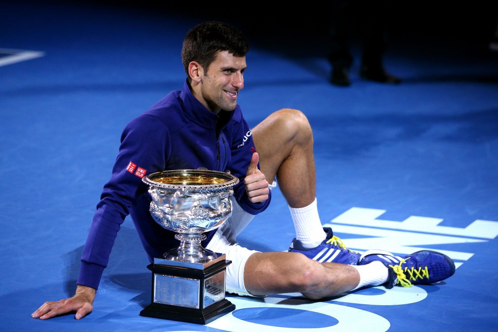 Serbian Novak Djokovic clinched a record sixth Australian Open crown ©Getty Images
