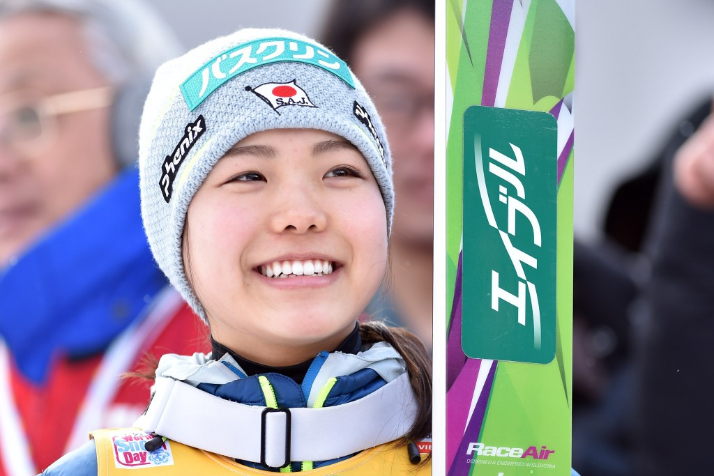 Japan's Sara Takanashi continued her reign of dominance as she secured her seventh consecutive victory with another commanding performance at the FIS Ski Jumping World Cup event in Oberstdorf ©Getty Images