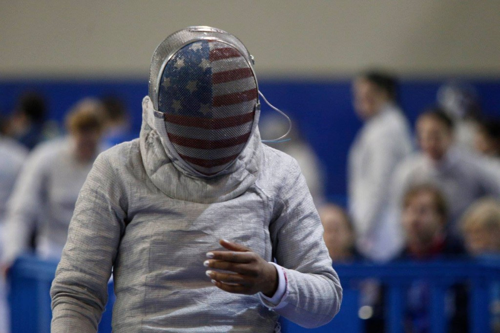The United States' Mariel Zagunis earned World Cup gold in Athens ©Facebook/FIE