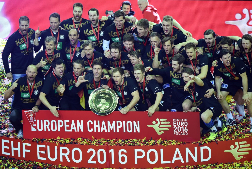 Germany earned their second European handball title to book their place at Rio 2016 ©Getty Images