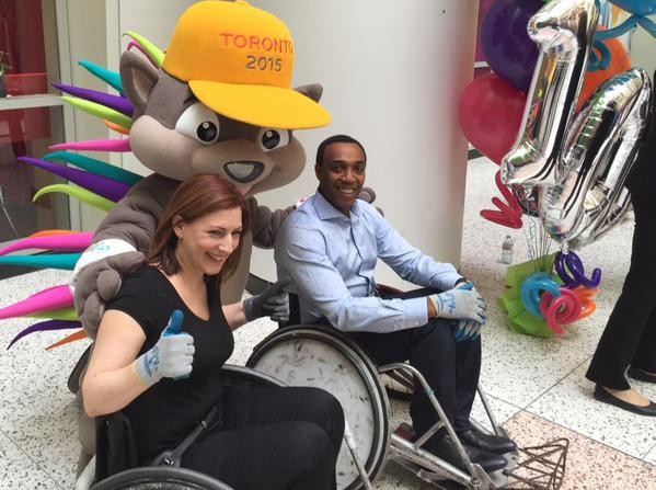 News anchor Dwight Drummond recently took part wheelchair rugby event as CBC announced details of their coverage of the Pan Am Games