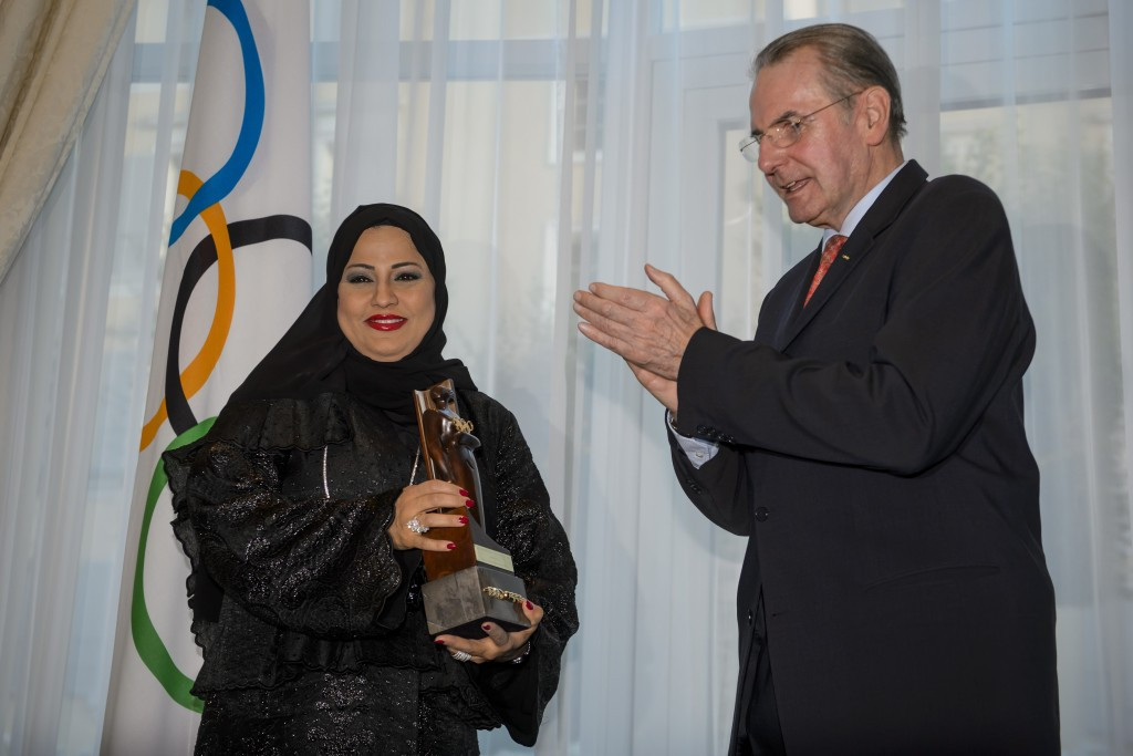 Ahlam Salem Mubarak Al Mana, who won the IOC's World Trophy in 2013 for her contribution to the development of women's participation in sports, was an attendee at the workshop