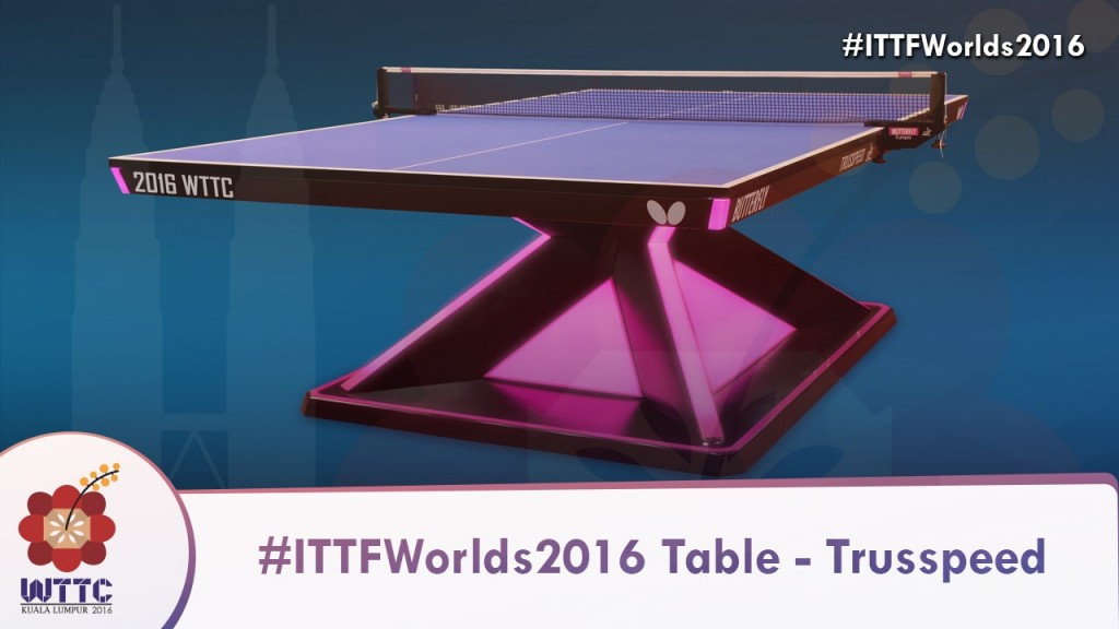 Butterfly will provide the tables at this year's ITTF World Team Championships ©ITTF