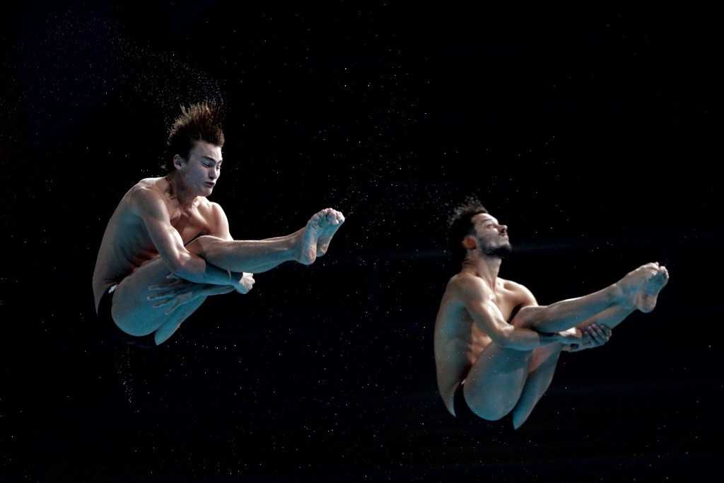 Canada's Philippe Gagné and François Imbeau-Dulac finished on the podium in both men's synchronised competitions