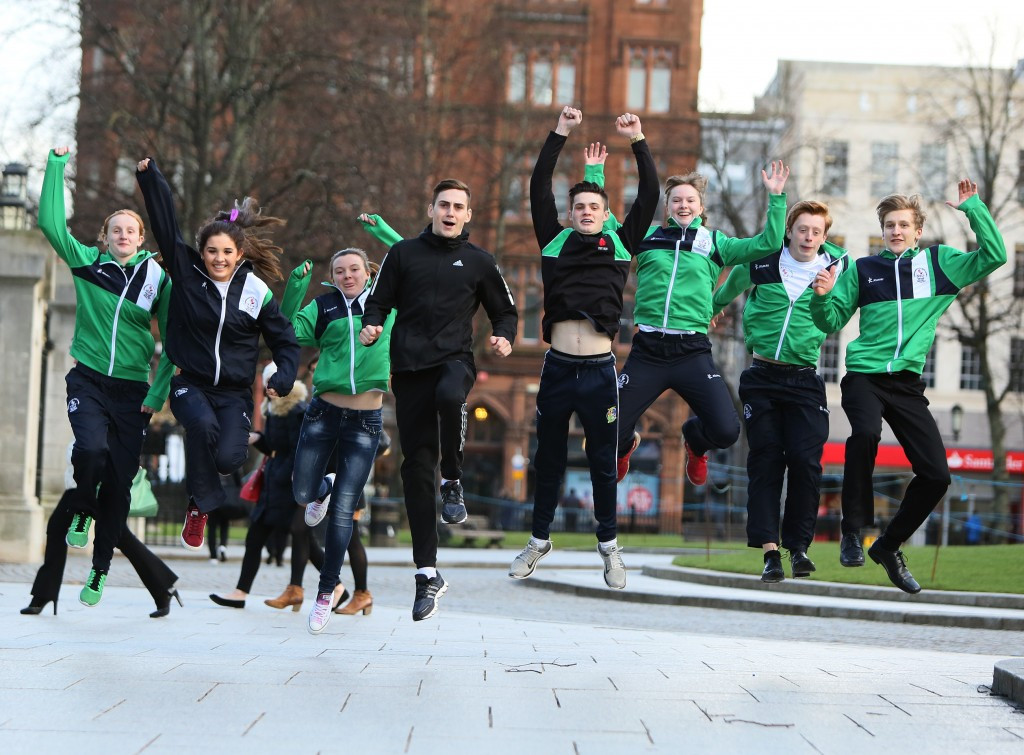 A host of Northern Irish athletes attended the event in Belfast today