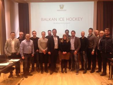 Plan launched to develop ice hockey in the Balkans
