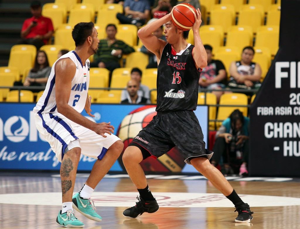 India pictured competing against Japan at last year's Asia Basketball Championships in Changsha ©Getty Images